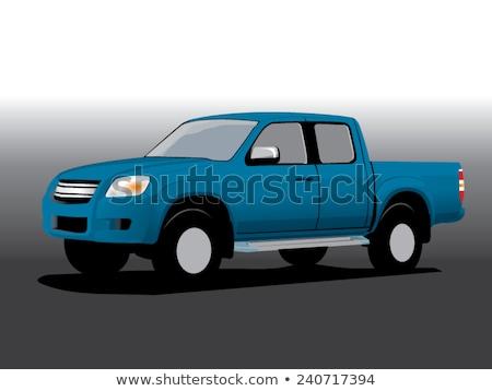 blue pickup car Stock photo © Genestro