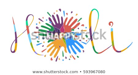 banner on the holy feast lettering holi stock photo © olena