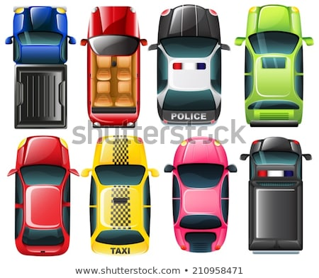 Different types of cars from topview Stock photo © bluering