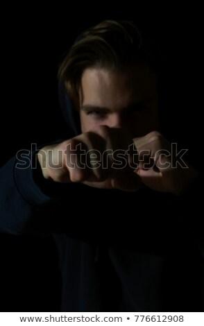 primer · plano · mano · muscular · hombre · vendaje · formación - foto stock © deandrobot