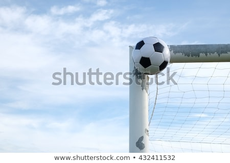 Soccer ball near a goal post Stock photo © wavebreak_media