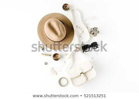 knop · knoopsgat · geïsoleerd · kleding · witte - stockfoto © frescomovie