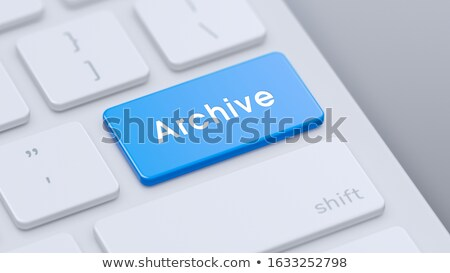 Keyboard with Blue Key - Archive. 3D Illustration. Stock photo © tashatuvango