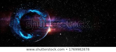 抽象的な スペース フラクタル 紫色 サークル ストックフォト © studioworkstock