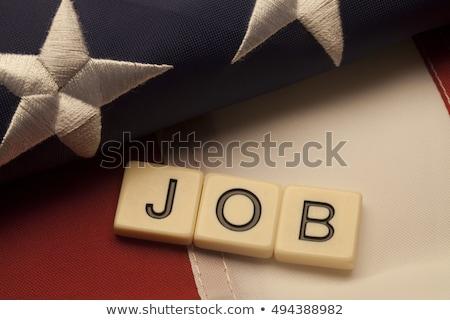 işsizlik · ABD · imzalamak · çalışmak · gıda · karton - stok fotoğraf © lightsource