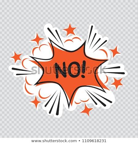 Nem rajz illusztráció átlátszó üzenet képregény Stock fotó © romvo