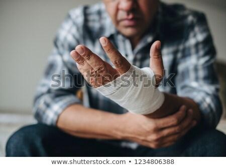 Gesneden hand zwachtel illustratie arts achtergrond Stockfoto © bluering