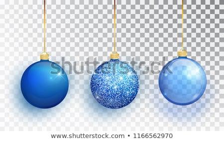 Mavi Noel top dekorasyon noel ağacı Stok fotoğraf © Melnyk