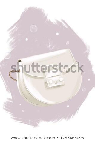belo · bolsa · bolsa · branco · de · volta · terreno - foto stock © robuart