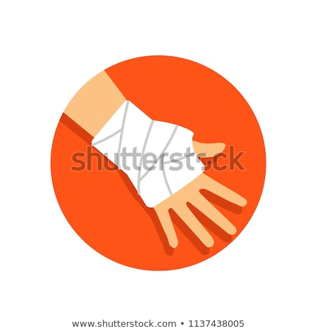 Injured hand with bandage Stock photo © CsDeli
