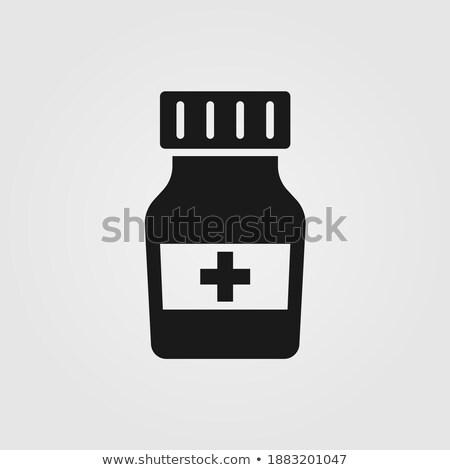 farmácia · teia · cartaz · cair · pomada - foto stock © robuart