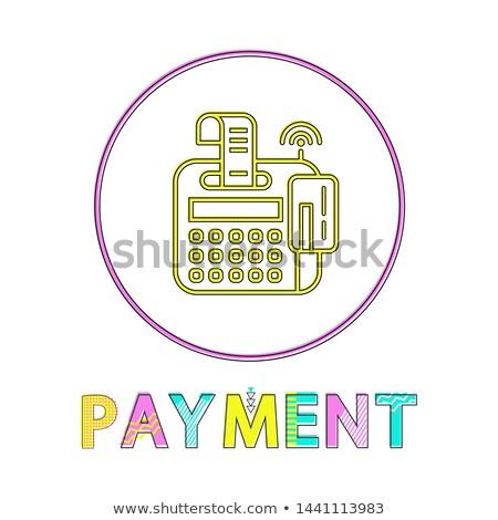 Ligne paiement lumineuses linéaire icône modèle Photo stock © robuart