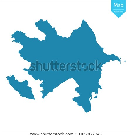 Azerbajdzsán térkép ikon logo vektor terv Stock fotó © blaskorizov