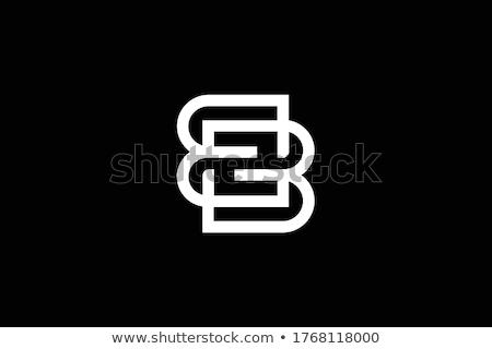 Zwarte brief logo teken vector Stockfoto © blaskorizov