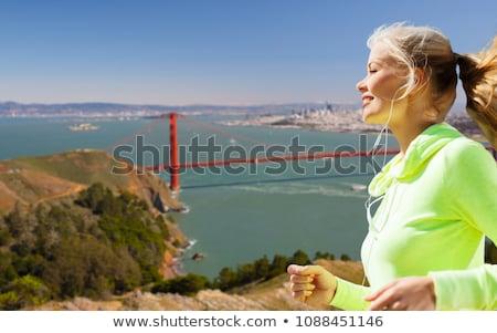 Foto stock: Mulher · corrida · San · Francisco · fitness · esportes