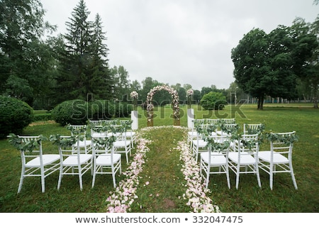 ваза цветы Свадебная церемония парка красивой Сток-фото © ruslanshramko