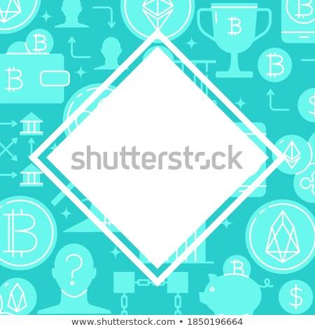 Blockchain Digital Technology Poster Text Vector Stock photo © robuart