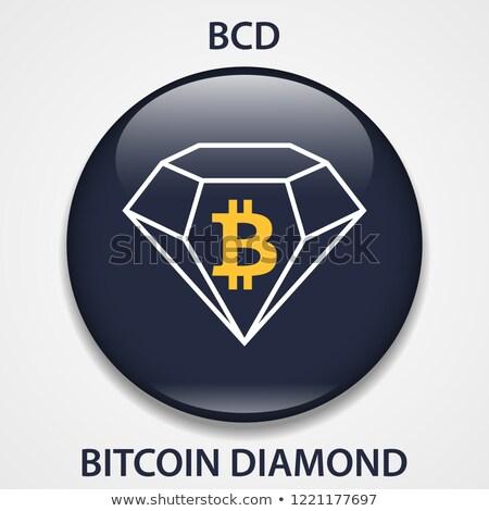 Bitcoin diamantes icono mercado de dinero emblema virtual Foto stock © tashatuvango