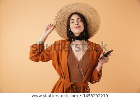 Obraz zadowolony kobieta 20s Zdjęcia stock © deandrobot