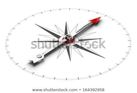 Bússola branco direito magnético agulha indicação Foto stock © make