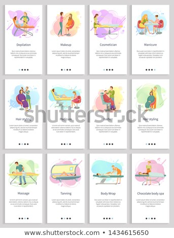 Cosmetician Cosmetic Procedures Massage Set Vector Stock photo © robuart