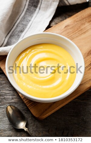 Delicious vanilla mousse Stock photo © boggy
