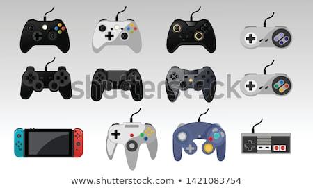 Jeu vidéo joystick main vidéo isolé Photo stock © ArenaCreative