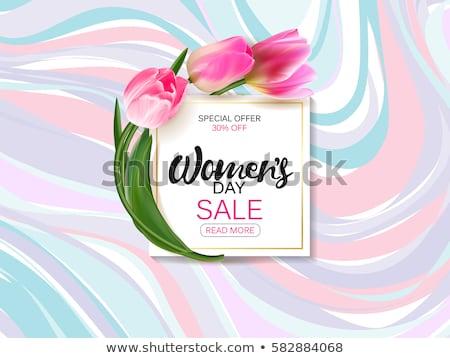 dzień · kobiet · sprzedaży · projektu · tulipan · kwiat · różowy - zdjęcia stock © robuart