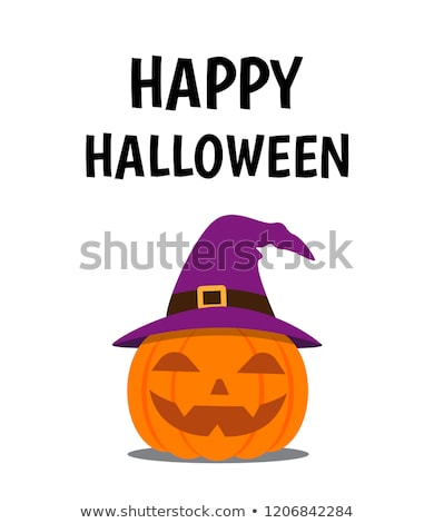 Cartoon ghost wearing a witch's hat Stock photo © bennerdesign