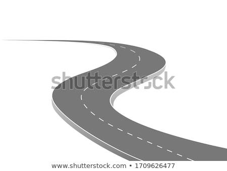 Krzywa projektu drogowego tle ścieżka horyzoncie Zdjęcia stock © SArts