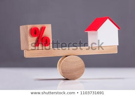 Primo piano casa modelli percentuale simbolo Foto d'archivio © AndreyPopov