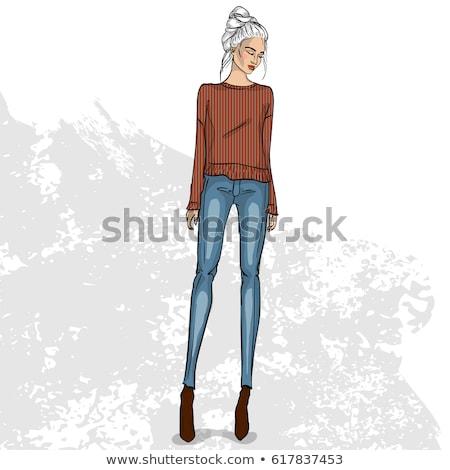 moda · veja · belo · jovem · adolescente · branco - foto stock © netkov1