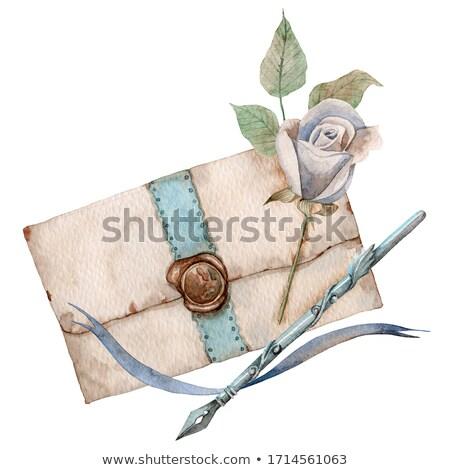 textura · grunge · libro · viejo · papel · hoja · cuerda · cartón - foto stock © inxti