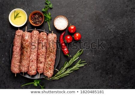 ruw · kip · kebab · metaal · oranje · diner - stockfoto © tycoon