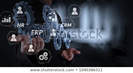 Mãos aplicação ícones nuvem composição digital computador Foto stock © wavebreak_media