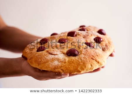 Kiraz kek genç kafkas adam Stok fotoğraf © nito