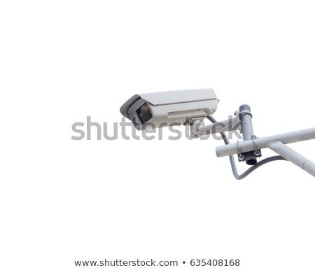 サーベイランス カメラ 孤立した 白 フロント 表示 ストックフォト © magraphics