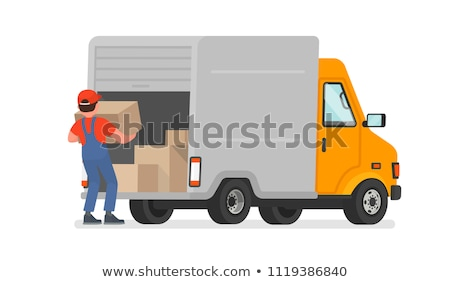 workers carrying packages and cargo orders vector stock photo © robuart