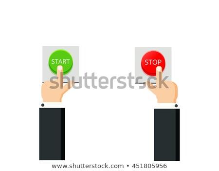 начала кнопки цвета иллюстрация играть щелчок Сток-фото © barsrsind