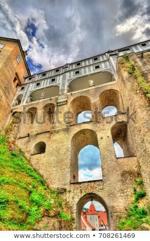 Cloak bridge of Cesky Krumlov castle Stock photo © hamik