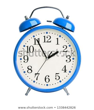 Blu sveglia vuota illustrazione 3d clock retro Foto d'archivio © make