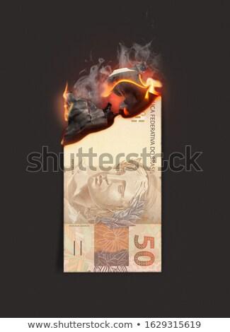 Gerçek yanan nakit dikkat görüntü Stok fotoğraf © albund