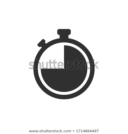 конкуренция спорт секундомер икона вектора Сток-фото © pikepicture