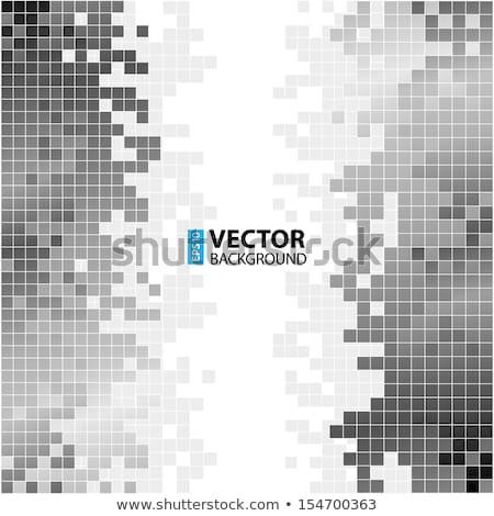 Grayscale pixel background. Abstract digital vector illustration.  Stock photo © ukasz_hampel