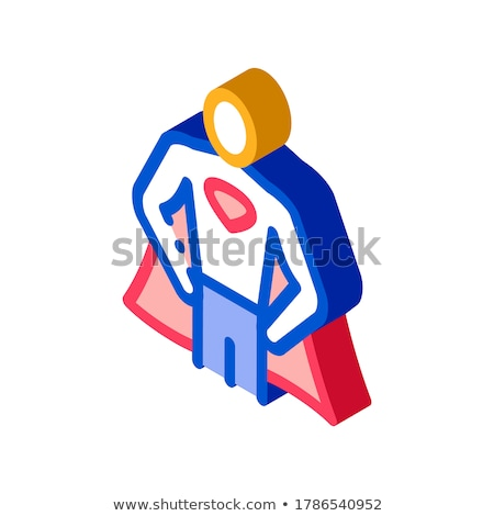 Superman Full Growth isometric icon vector illustration Stock photo © pikepicture