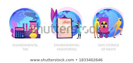 Sicher Lagerung Abfälle abstrakten chemischen Management Stock foto © RAStudio