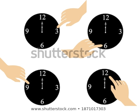 Clock hands pointing to number Nine Stock photo © johnkwan
