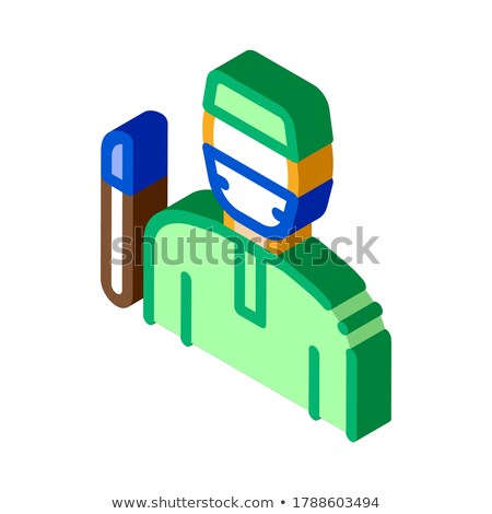 Korean Doctor isometric icon vector illustration Stock photo © pikepicture