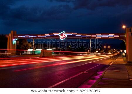 Nowy Meksyk znak autostrady zielone USA Chmura ulicy Zdjęcia stock © kbuntu
