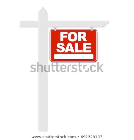 Vente signe affaires herbe bâtiment Photo stock © Hofmeester